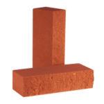 Кирпич полнотелый фактурный колотый КСЛФ4 цвета Клинкер