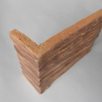 Плитка скол дерева макси угловая 180*123*52 терракот